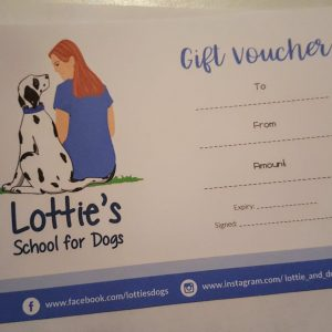 dog training gift voucher