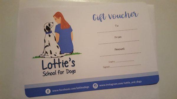 dog training gift voucher